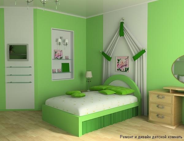 Интересный дизайн балдахина над детской кроватью