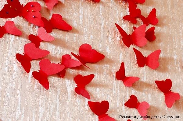 Декор бабочки на стене
