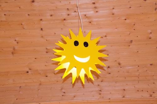 В форме солнца