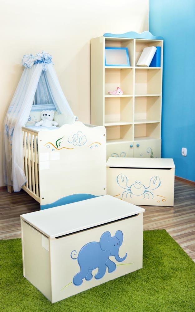 Детская комната для новорожденного мальчика фото