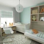 Преобладание белого цвета в детской для новорожденного