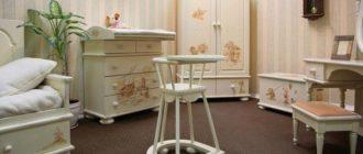 Комплект мебели в детскую для новорожденного