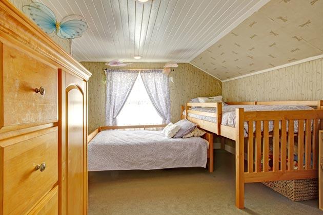 Расположение двух отдельных кроватей