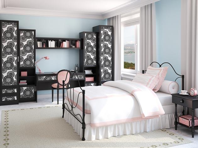 Мебель с декором и кровать для девочки подростка