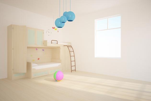 Двухэтажная детская кровать со шкафом
