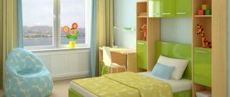 Уютная красивая мебель для детской комнаты