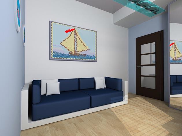 С тематическими картинами на корабельную тематику