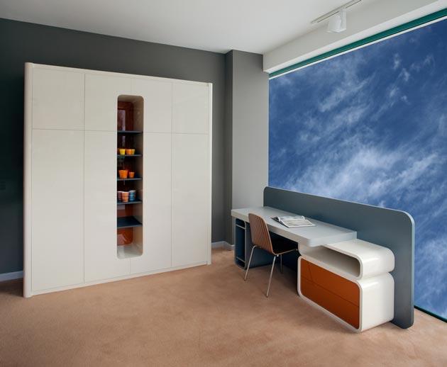 Шкаф и письменный стол в современном дизайне