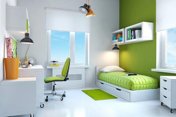 Освещение каждой зоны в комнате основным и дополнительными светильниками