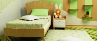 Дизайн интерьера в салатовом цвете для маленькой девочки