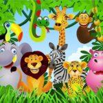 Рисунок на фотообоях по теме джунгли