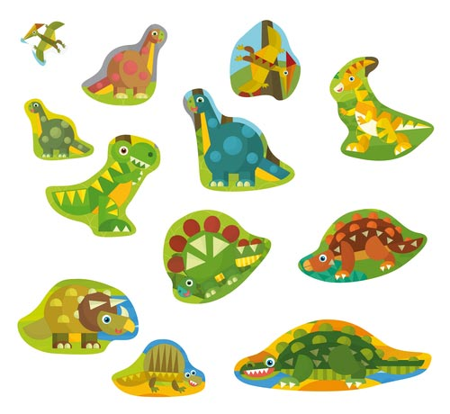 С изображением динозавров