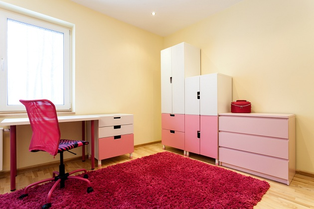 Мебель в бело-розовом цвете для девочки 7 лет