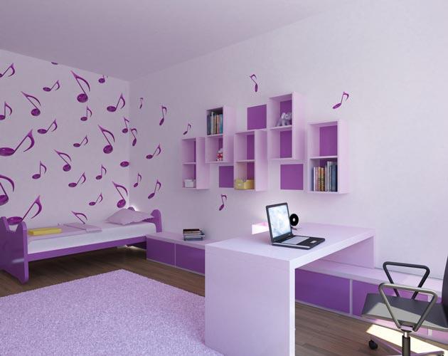 Оттенки сиреневого в покраске стен, мебели и декоре