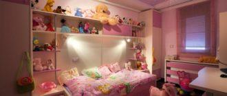Оформление натяжного потолка в комнате для девочки