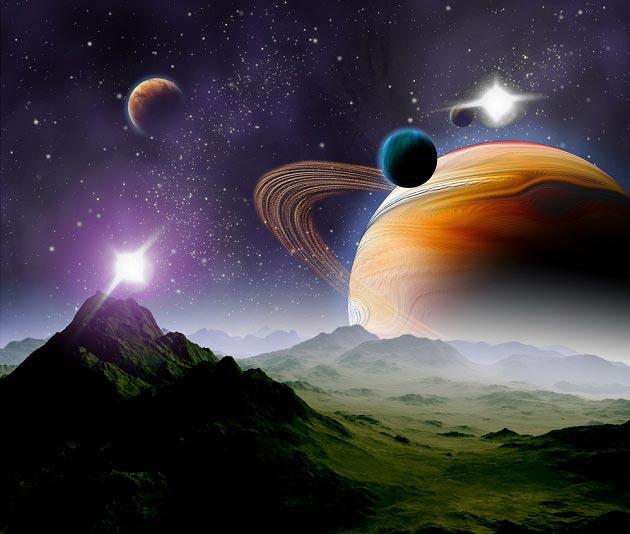 С изображением планет