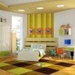 Многоуровневый потолок в комнате для мальчика