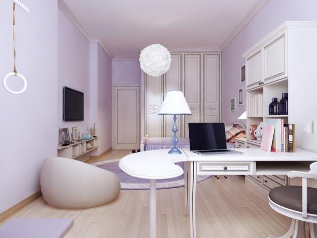 Расстановка мебели у коротких стен