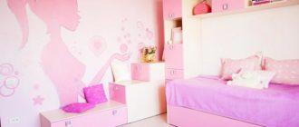 Интерьер для девочки в розовых оттенках