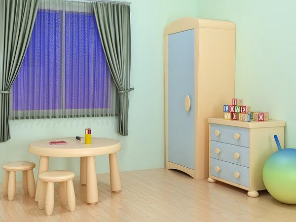 Занавески в детской для маленького ребенка