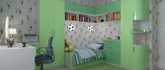 Футбольный стиль в детской комнате