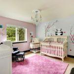 Дизайн детской для новорожденной девочки