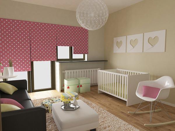 С кроваткой, диваном и креслом для мамы