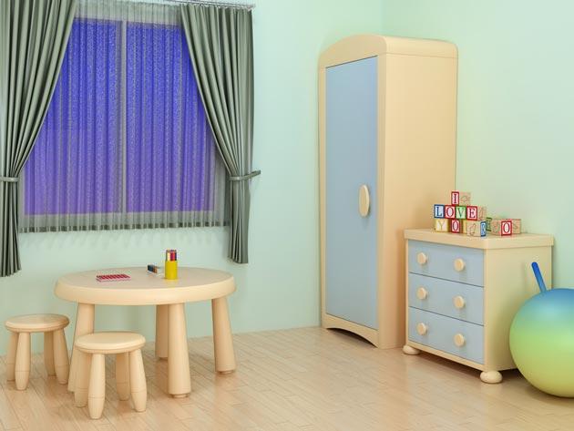 Обтекаемые углы на мебели для ребенка