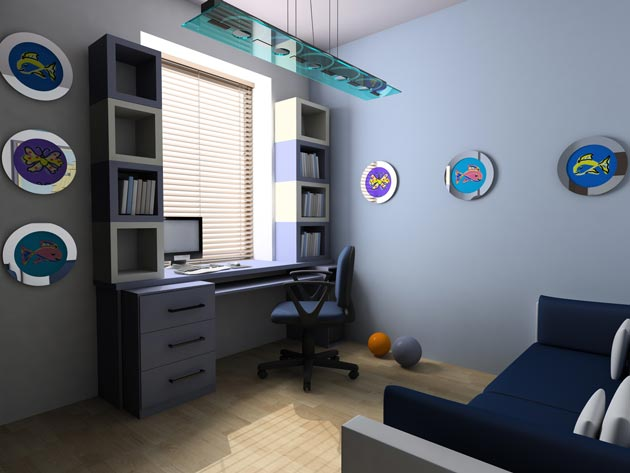 Идеи для комнаты в морском стиле для детей и подростков
