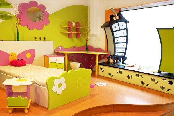 Дизайн с необычной детской мебелью