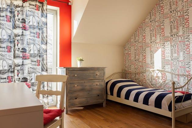 Необычный ретро стиль в комнате для подростка
