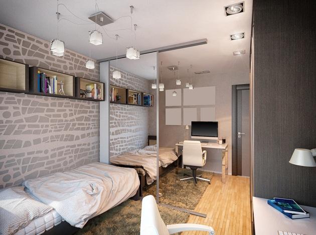 Комната для подростка с элементами стиля лофт