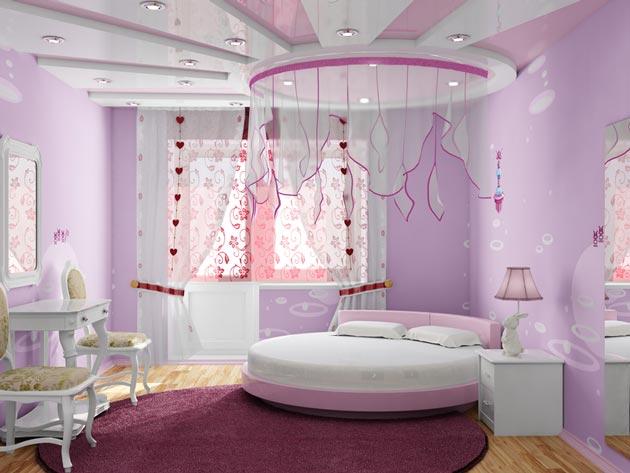 Оригинальный дизайн спальной комнаты для девочки подростка