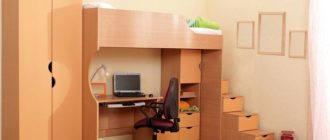 Кровать чердак для мальчика с письменным столом на нижнем ярусе