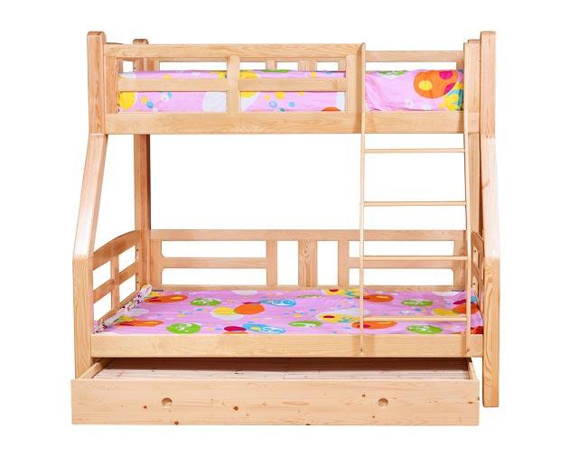 Модель трехъярусной кровати для детей