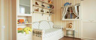 Уютный диван в интерьере детской