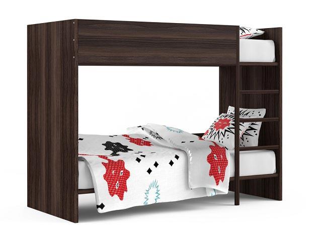 Двухъярусная кровать подойдет для разнополых детей младшего школьного возраста