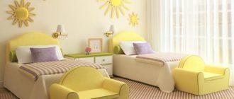 Красивая детская спальня для двоих девочек