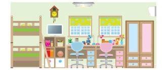 Детская спальня для разнополых детей