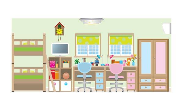 Выделение цветом места и предметов для каждого ребенка