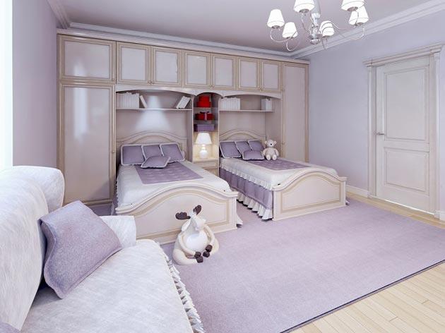 Шкаф и спальные места в классическом стиле