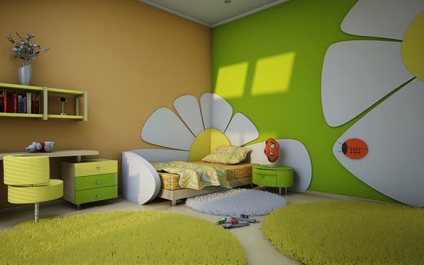 Необычная спальная комната для девочки