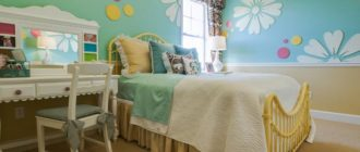 Красивый интерьер спальни для маленькой девочки