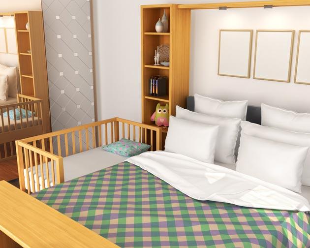 Уголок для малыша во взрослой спальне