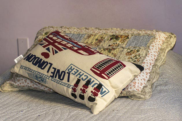 Декор подушек в стиле Лондон