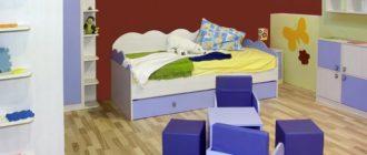 Дизайн детской комнаты в красном цвете