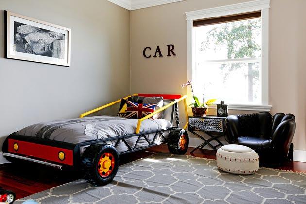 Модель кровати машины для мальчика