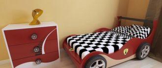 Использование красного цвета в элементах детской мебели