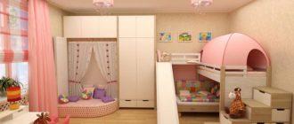 Детская комната 18 кв м для девочки