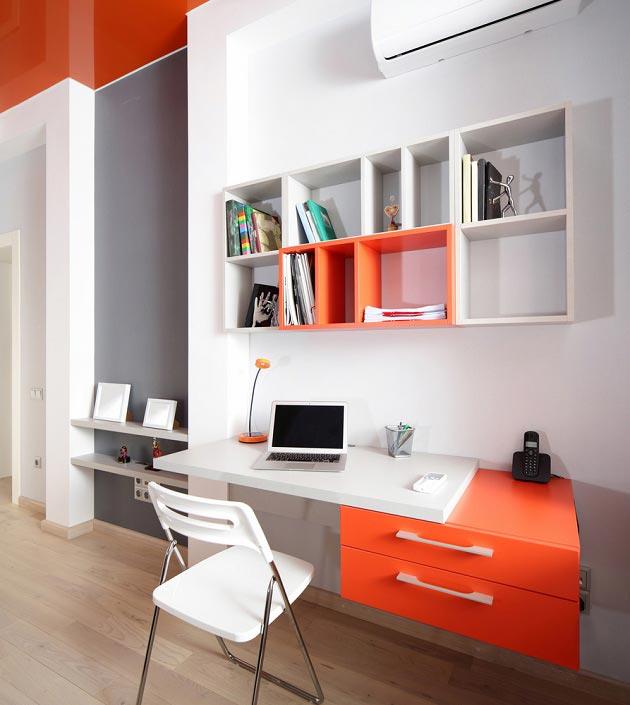 Оранжевый в оформлении рабочей зоны